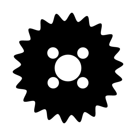 settings icon: black and white settings icon over isolated background, vector illustration Illustration