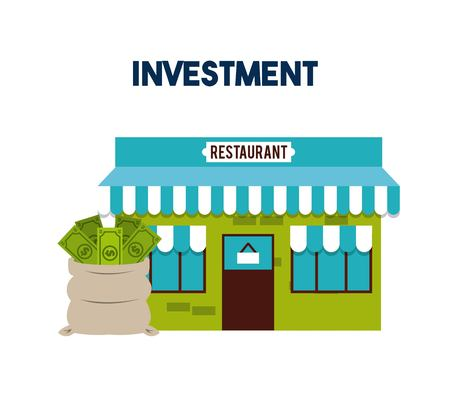 restaurant bill: investment in restaurant  isolated icon design, vector illustration  graphic Illustration