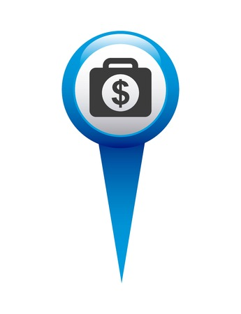financial position: money in pin location isolated icon design, vector illustration  graphic
