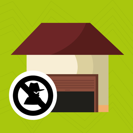theft: smart home with theft isolated icon design, vector illustration  graphic