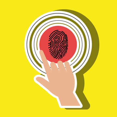selecting: human hand selecting isolated icon design, vector illustration  graphic