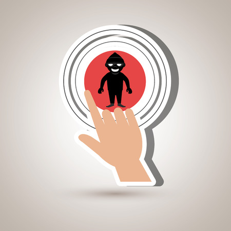 selections: human hand selecting isolated icon design, vector illustration  graphic