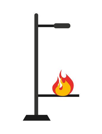 burner: laboratory burner isolated icon design, vector illustration  graphic