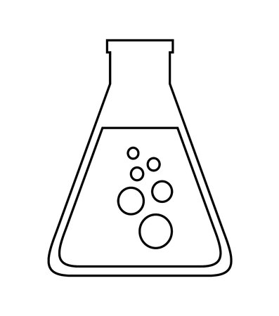 drug discovery: tube test  isolated icon design, vector illustration  graphic