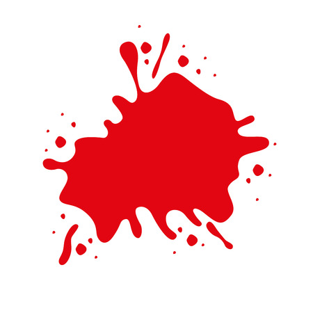 filthy: red paint stain isolated icon design, vector illustration  graphic