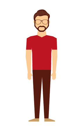 sexy men: casual young man isolated icon design, vector illustration  graphic