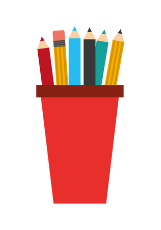 holders: pencil holders isolated icon design, vector illustration  graphic
