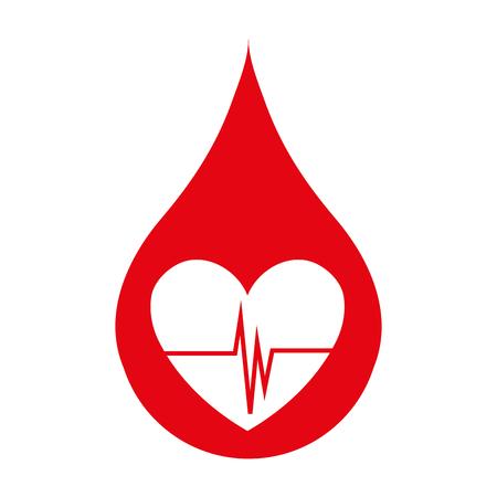 Blood drop icon, blood donation and transfusion theme design, vector illustration. Ilustração Vetorial
