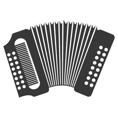 accordion: Accordion  music instrument icon design, vector illustration image. Illustration