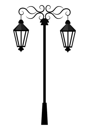 Street light or lamp icon, vector illustration graphic degin.