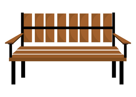 wooden chair: Bench or wooden chair icon design, vector illustration.