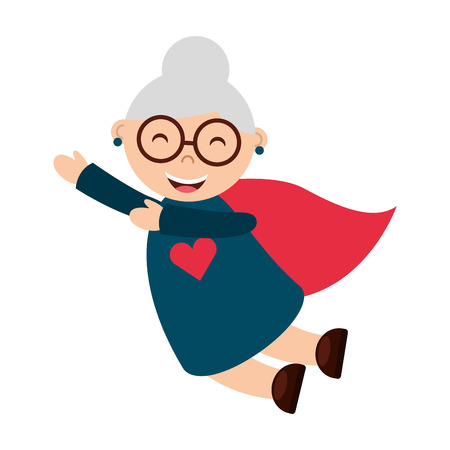 older woman smiling: grandmother isolated icon design, vector illustration  graphic Illustration