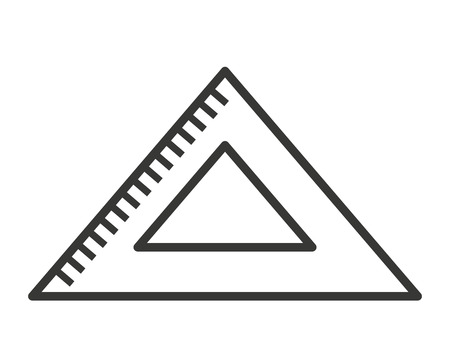 triangle rule isolated icon design, vector illustration graphic