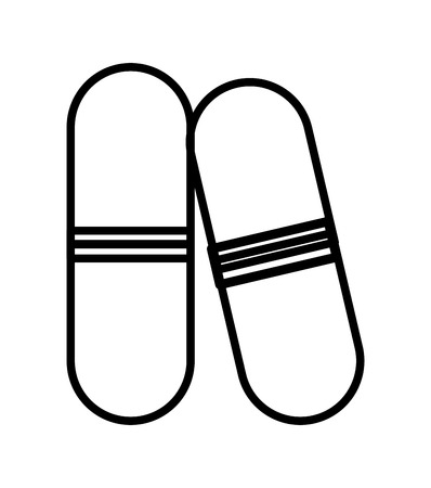 granules: medical capsule  isolated icon design, vector illustration  graphic Illustration