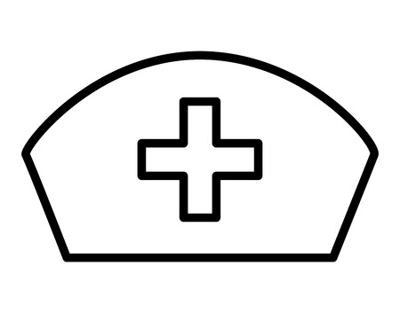nursing clothes: nurse hat isolated icon design, vector illustration  graphic Illustration