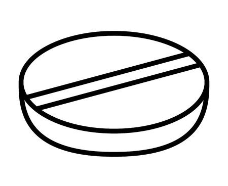 granules: pill isolated icon design, vector illustration  graphic