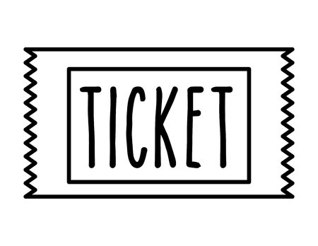 entry admission: ticket cinema isolated icon design, vector illustration  graphic