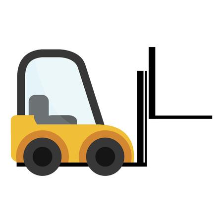 article marketing: Yellow forklift cargo vehicle design, vector illustration eps10 Illustration