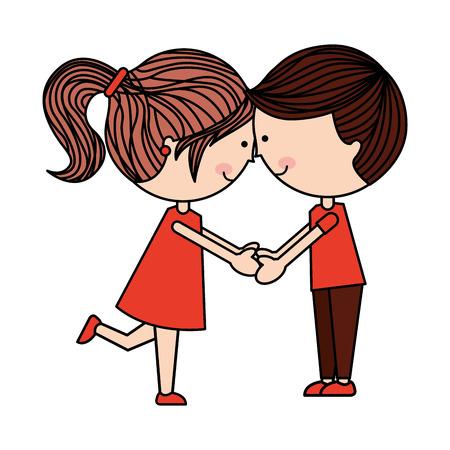 boyfriends: cute couple isolated icon design, vector illustration  graphic Illustration