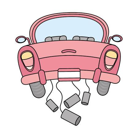 aislado solo coche casado icono del diseño, ejemplo gráfico del vector