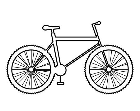 Mountain bike isolated icon on white background, vector illustration.