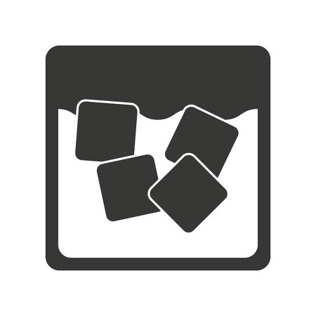 ice cubes: cocktail with ice cubes isolated icon design, vector illustration  graphic