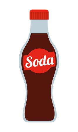 ソーダの瓶がアイコンのデザイン、ベクトル イラストレーション グラフィックを分離