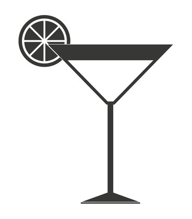 citrus fruit: cocktail with citrus fruit isolated icon design, vector illustration  graphic