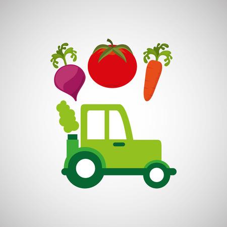 horticulturist: farm tractor isolated icon design, vector illustration  graphic
