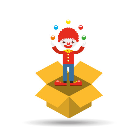 comedian: circus juggler isolated icon design, vector illustration  graphic Stock Photo