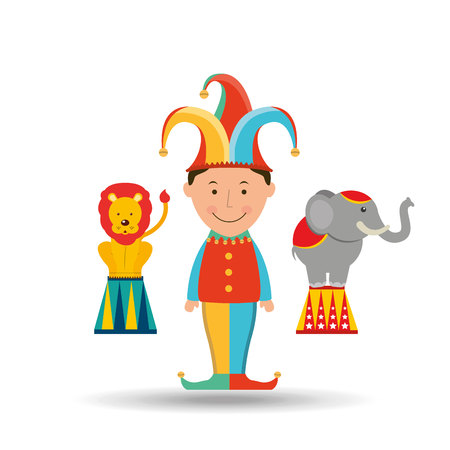 juggler: circus juggler isolated icon design, vector illustration  graphic Stock Photo