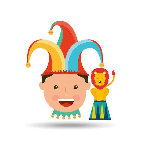 juggler: circus juggler isolated icon design, vector illustration  graphic Illustration