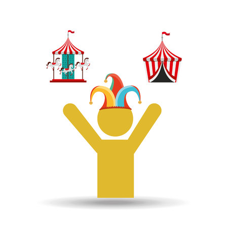 comedian: circus juggler isolated icon design, vector illustration  graphic Illustration