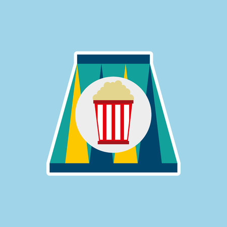 soda pop: soda and pop corn  isolated icon design, vector illustration  graphic