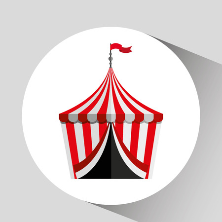 cirque: circus tent isolated icon design, vector illustration  graphic Illustration