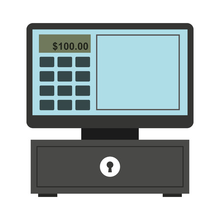 receipts: cash register isolated icon design, vector illustration  graphic Illustration