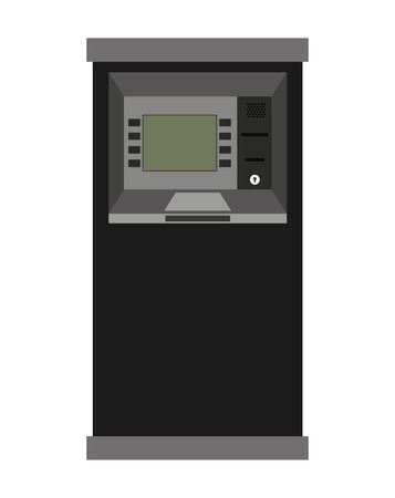 automatic transaction machine: atm machine isolated icon design, vector illustration  graphic Vectores