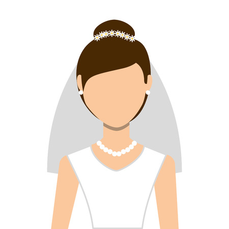wife: wife wedding dress isolated icon design, vector illustration  graphic