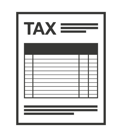 tax form: tax form isolated icon design, vector illustration  graphic