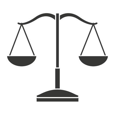 punishing: balance scale isolated icon design, vector illustration  graphic Illustration