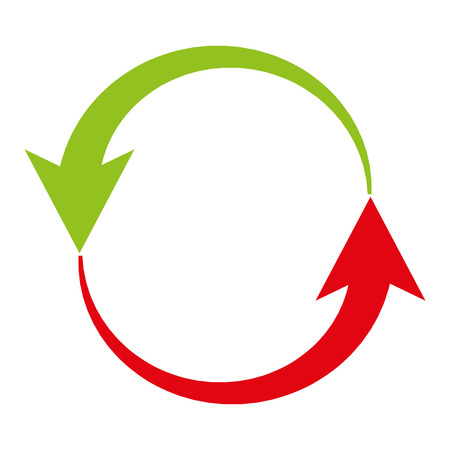 business process lifecycle: arrows around  isolated icon design, vector illustration  graphic