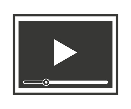 windows media video: media player isolated icon design, vector illustration  graphic Illustration