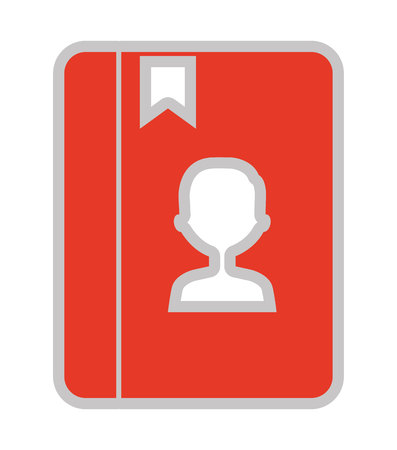 phonebook: phonebook isolated icon design, vector illustration  graphic Illustration