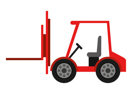 fork lifts trucks: forklift truck isolated icon design, vector illustration  graphic