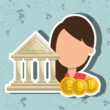 sell shares: person with money  isolated icon design, vector illustration  graphic Stock Photo