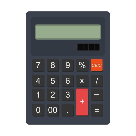 Colorful calculator icon, vector illustration flat graphic design. Vektorové ilustrace