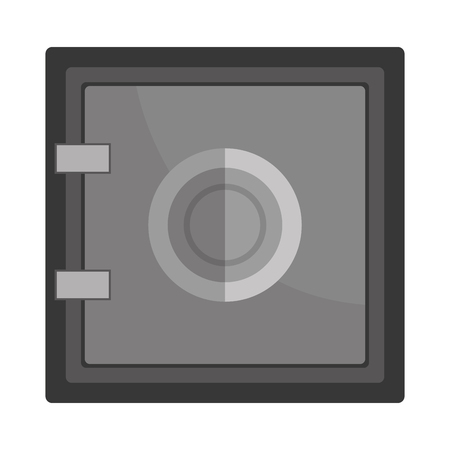 strongbox: Safe depostis box or strongbox flat icon, vector illustration graphic. Illustration
