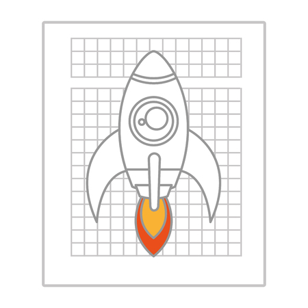 flamme: Rocket flying isolated icon,business start up company theme design.