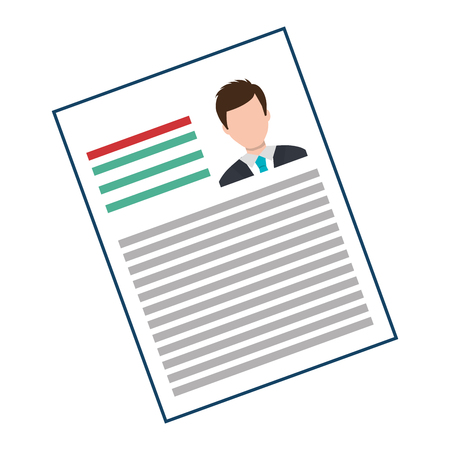 Business Curriculum Vitae with Photo and information, vector illustration.