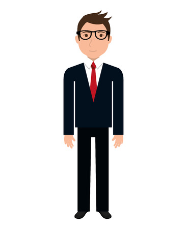 businessman shoes: Businessman executive cartoon theme design, vector illustration graphic.